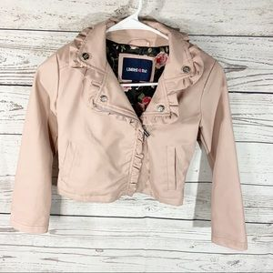 Limited Too Faux Leather Pink Jacket Sz 7/8